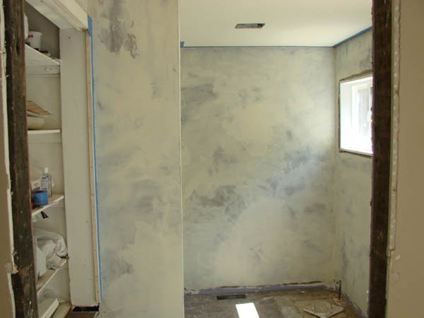 Finishes elevated house the seeker for Venetian plaster bathroom ideas